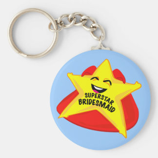 superstar bridesmaid funny keychain