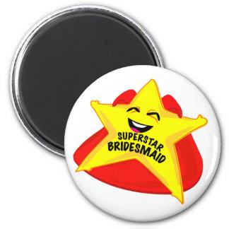 superstar bridesmaid funny magnet!