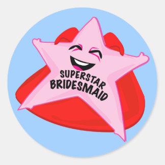 superstar bridesmaid funny sticker!
