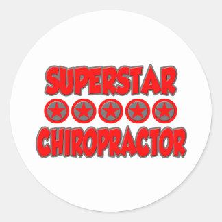 Superstar Chiropractor Round Sticker