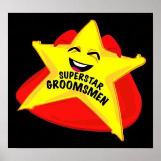 superstar groomsmen humorous  poster! poster