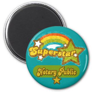 Superstar Notary Public Refrigerator Magnets