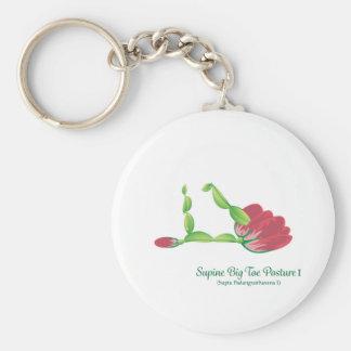 (Supine Big Toe Posture I) Basic Button Keychain