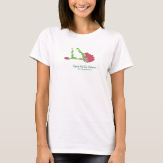 (Supine Big Toe Posture I) basic white t-shirt