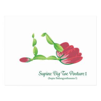 (Supine Big Toe Posture I) Postcard