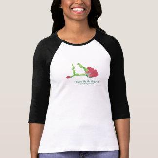 (Supine Big Toe Posture I) Women 3/4 Sleeve Shirt