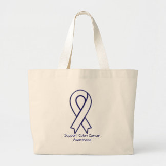 Support Colon Cancer Awareness Tote Bags