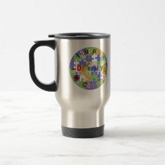 Support Community Diversity Custom Travel Mug