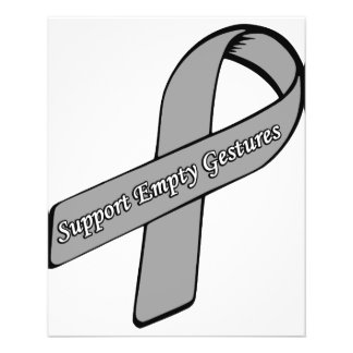 Support Empty Gestures Ribbon Personalised Flyer