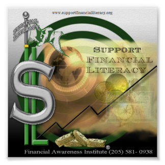 Support Financial Literacy Poster