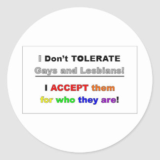 Support Gays and Lesbians Round Sticker