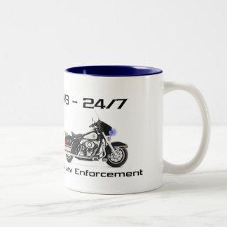 Support Law Enforcement Two-Tone Coffee Mug