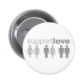 Support Love 6 Cm Round Badge