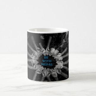 support nepal basic white mug