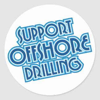 Support Offshore Drilling Classic Round Sticker