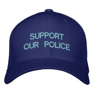 SUPPORT OUR POLICE CUSTOM CAP by eZaZZleMan.com