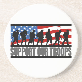 Support Our Troops coasters
