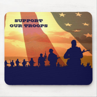 Support Our Troops. Gift Military Mousepad