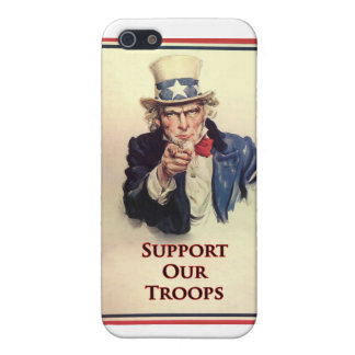 Support Our Troops Uncle Sam Poster Cover For iPhone 5/5S