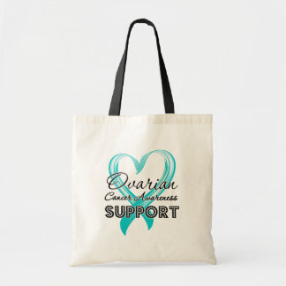 Support Ovarian Cancer Awareness Budget Tote Bag
