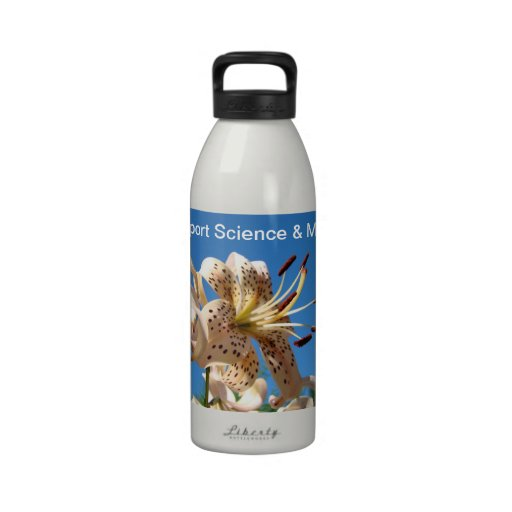 Support Science & Math water bottles custom Lilies