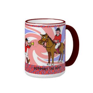 Support the hunt ringer mug