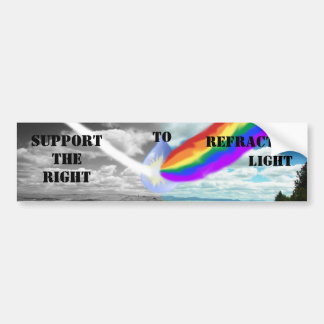 Support the right to refracted light bump sticker
