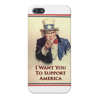 Support Uncle Sam Poster Cover For iPhone 5/5S