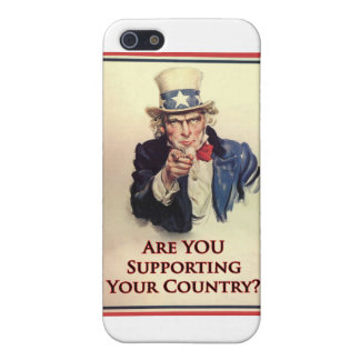 Support Uncle Sam Poster iPhone 5 Cover