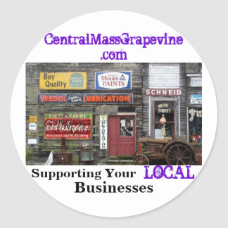 Supporting Your Local Businesses Classic Round Sticker