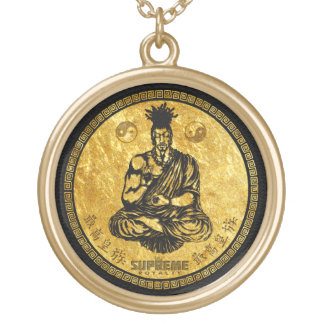 Supreme Royalty First Buddhist Necklace(Gld/Black) Gold Plated Necklace