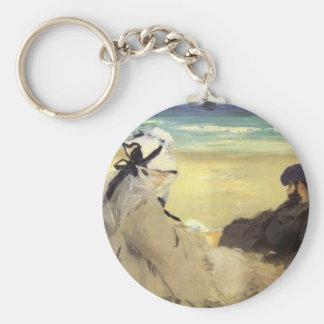 Sur la plage 1873 by Edouard Manet Keychains