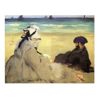 Sur la plage 1873 by Edouard Manet Postcard