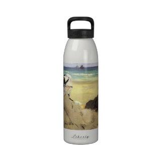 Sur la plage 1873 by Edouard Manet Drinking Bottle