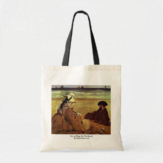 Sur La Plage On The Beach By Manet Edouard Tote Bag