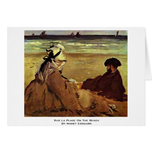 Sur La Plage On The Beach By Manet Edouard Greeting Cards