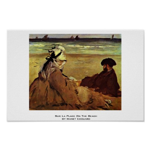 Sur La Plage On The Beach By Manet Edouard Posters