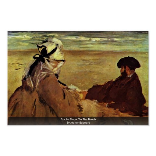 Sur La Plage On The Beach By Manet Edouard Poster