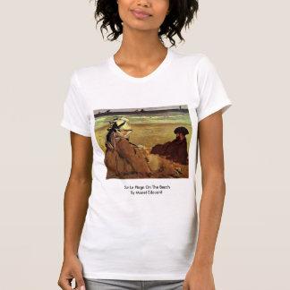 Sur La Plage On The Beach By Manet Edouard Tshirt