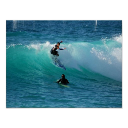 Surf Background Poster Print