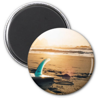 Surf board beach magnet