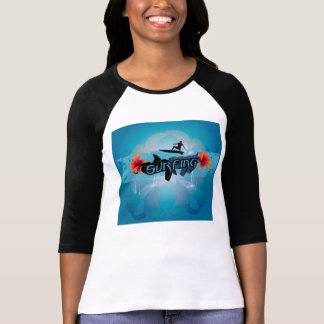 Surf boarder with water splash shirts