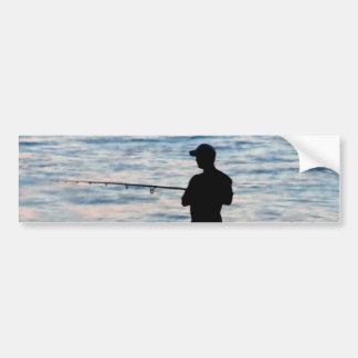Surf Fishing At Dusk 6 Bumper Sticker