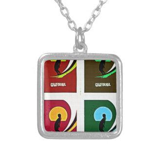 Surf Square Pendant Necklace