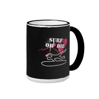 Surf or Die Ringer Mug