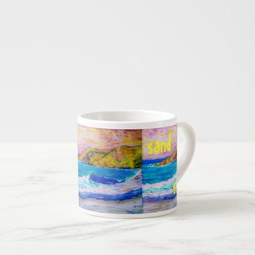 surf sand salt Art Espresso Mug