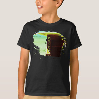 Surf surfboard stick surfing green yellow beach T-Shirt