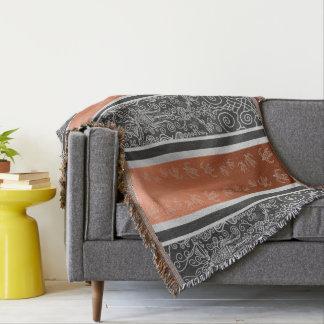 Surf Viking Symmetrical Scroll Flourishing Design Throw Blanket