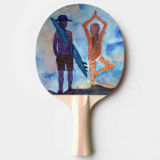 Surf Yoga Sunset Fairy Drawing Ping Pong Paddle