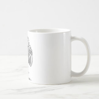 surfer dude cartoon character coffee mug
